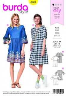 6401 Burda Pattern: Womans Dress